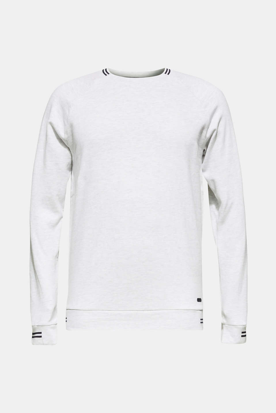 Sweatshirt in 100% cotton, OFF WHITE, detail image number 6