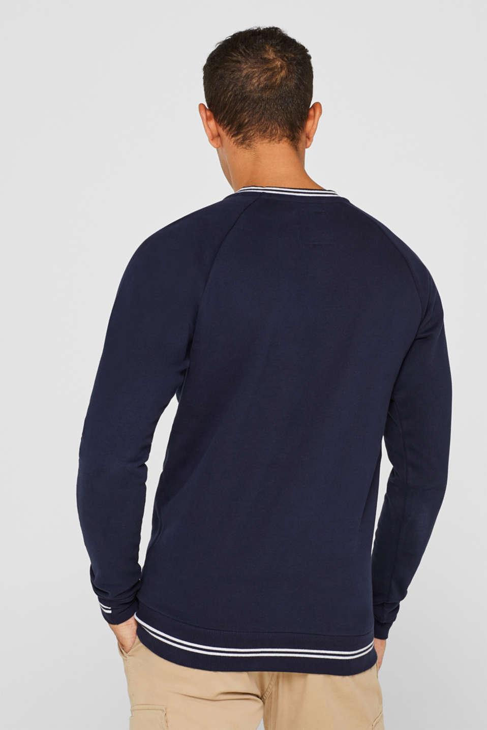 Sweatshirt in 100% cotton, NAVY, detail image number 3