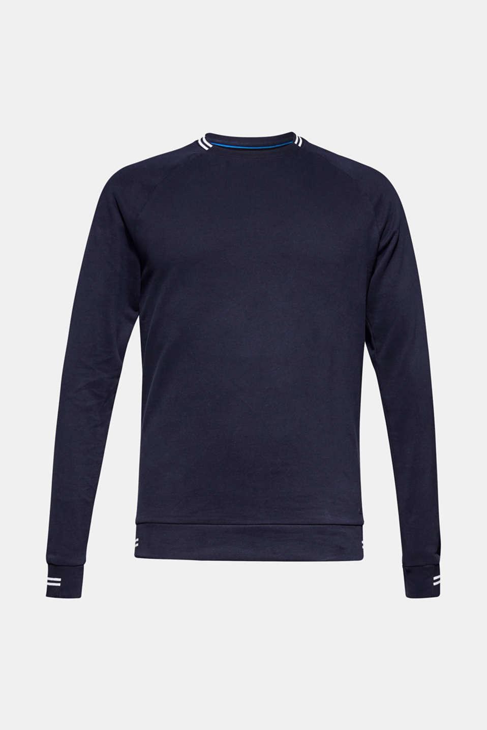 Sweatshirt in 100% cotton, NAVY, detail image number 6
