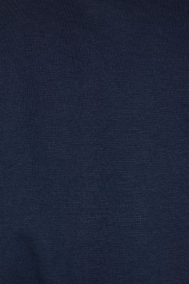 Long sleeve top made of textured jersey, NAVY, detail