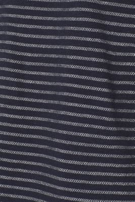 Striped piqué top made of 100% cotton, NAVY, detail