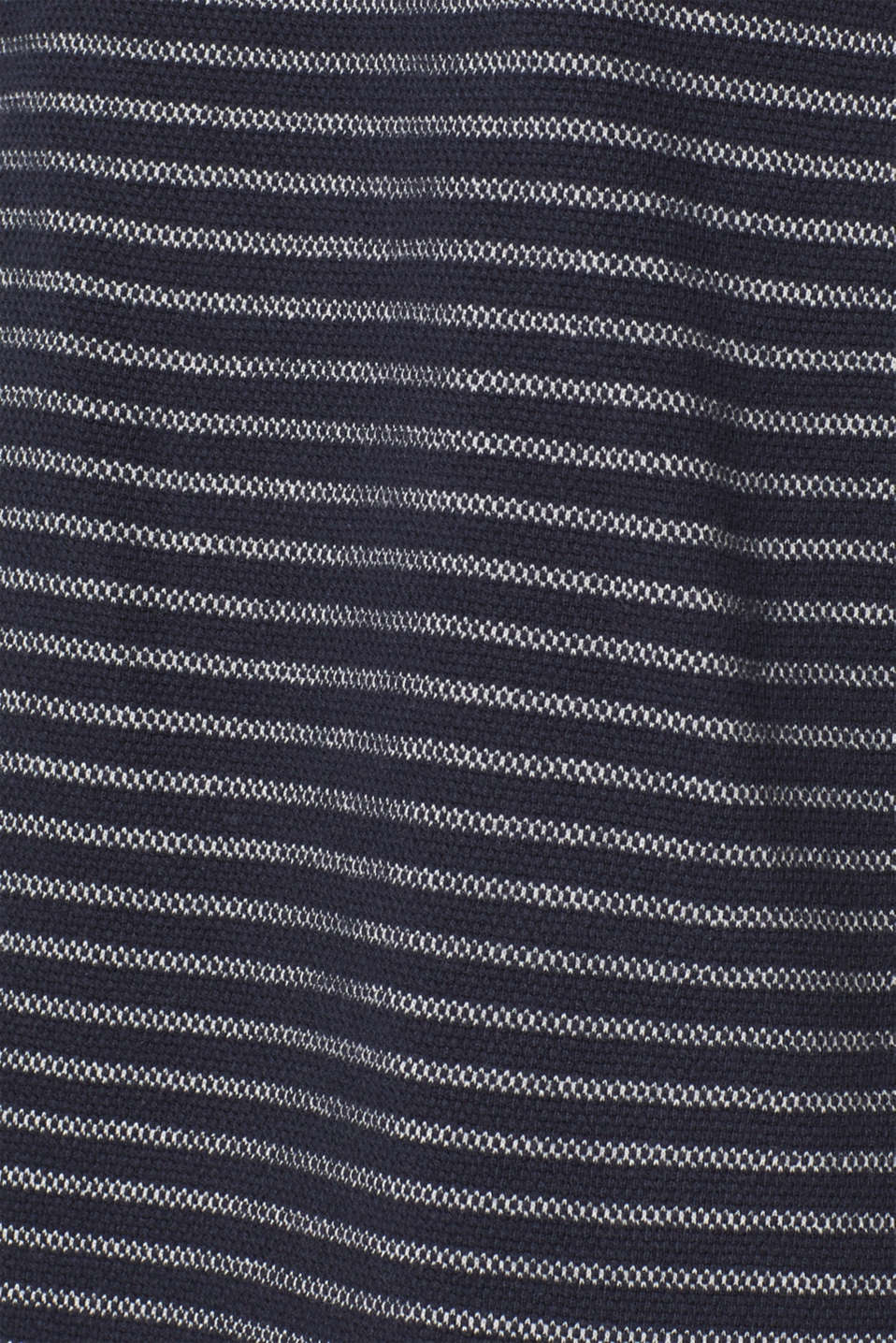 Striped piqué top made of 100% cotton, NAVY, detail image number 4