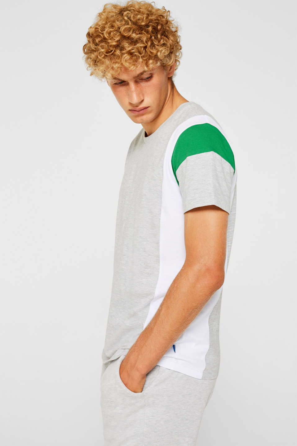 edc - Jerseyshirt med colourblock-elementer