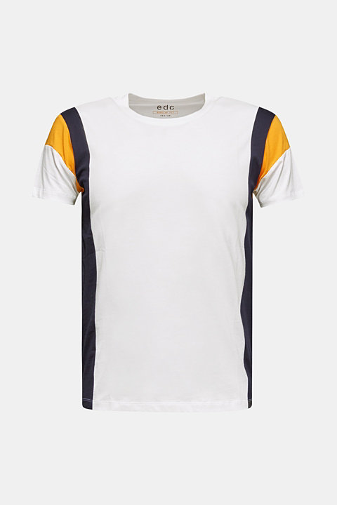 Colour block jersey T-shirt, 100% cotton