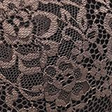 Padded underwire bra in two kinds of lace, TAUPE, swatch