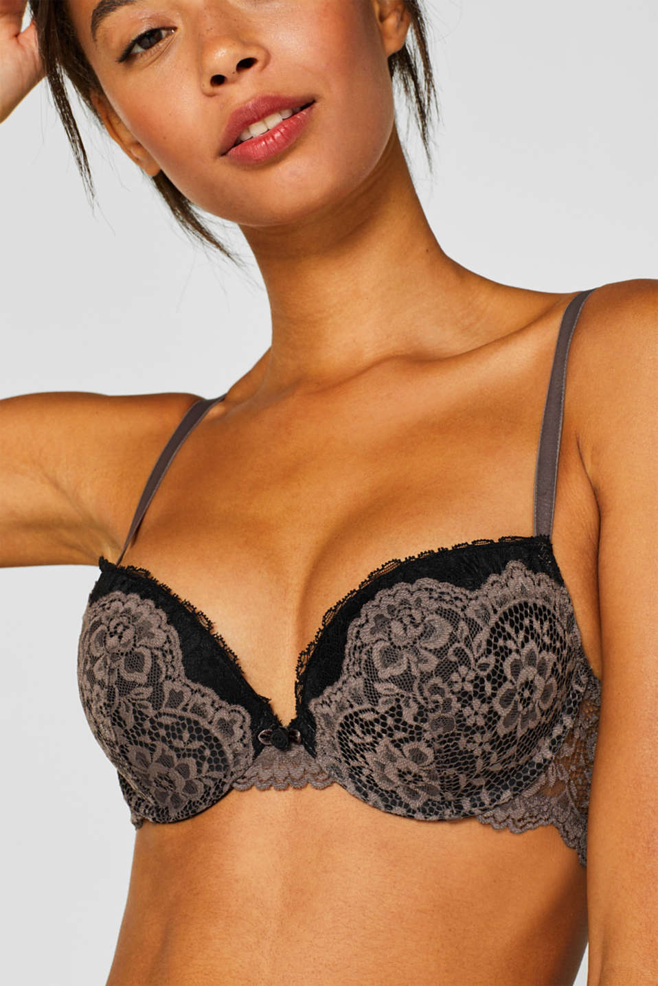 Bras with wire, TAUPE, detail image number 3