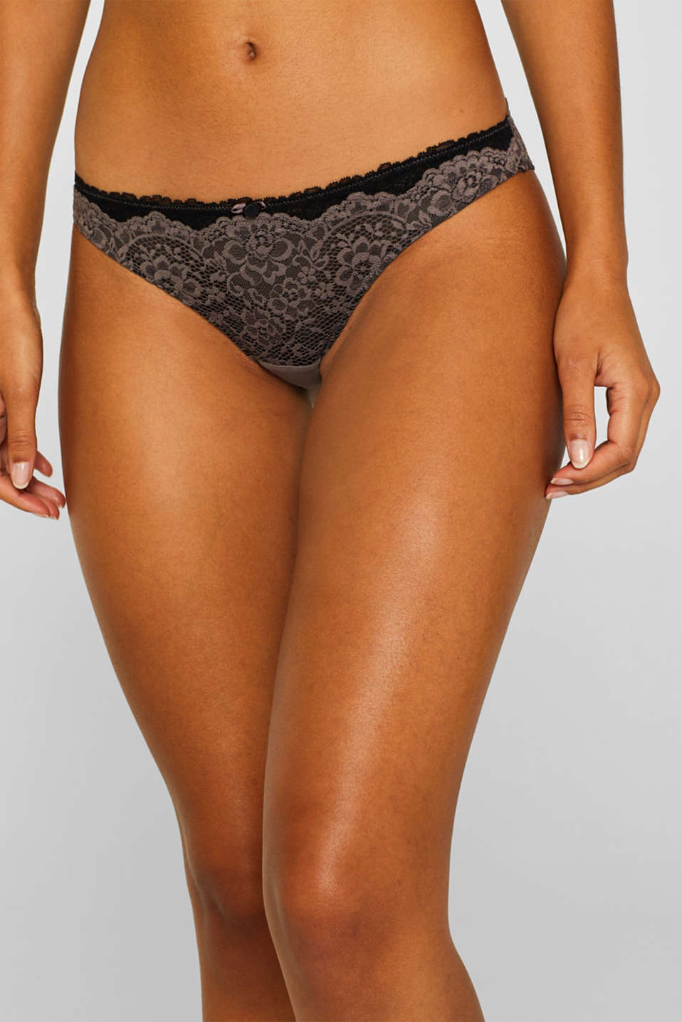 Hipster briefs in two kinds of lace, TAUPE, detail image number 0
