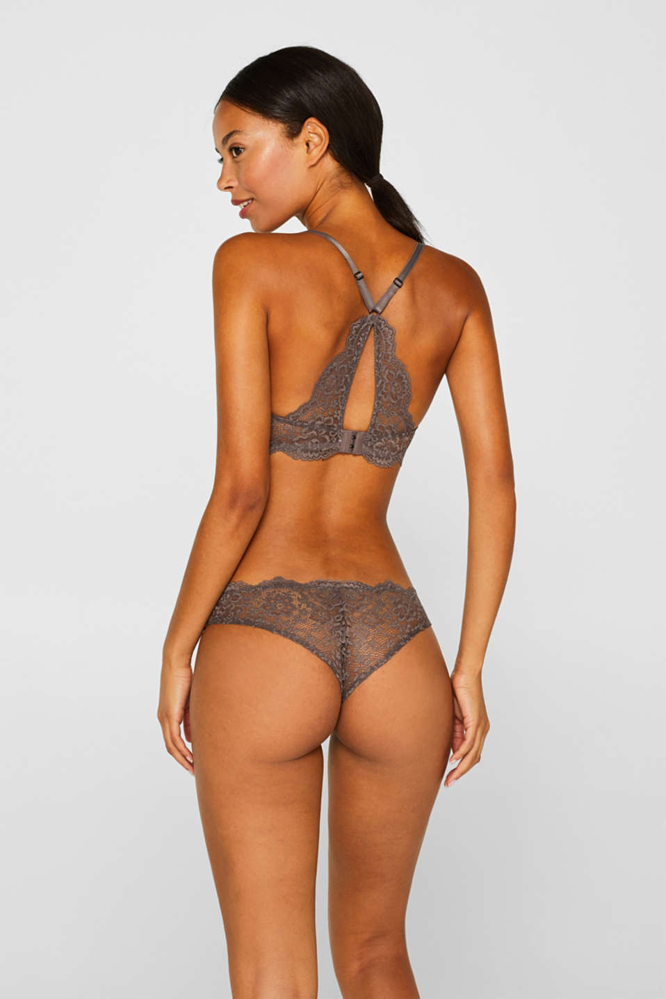 Hipster briefs in two kinds of lace, TAUPE, detail image number 3