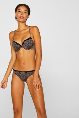 Hipster briefs in two kinds of lace, TAUPE, detail