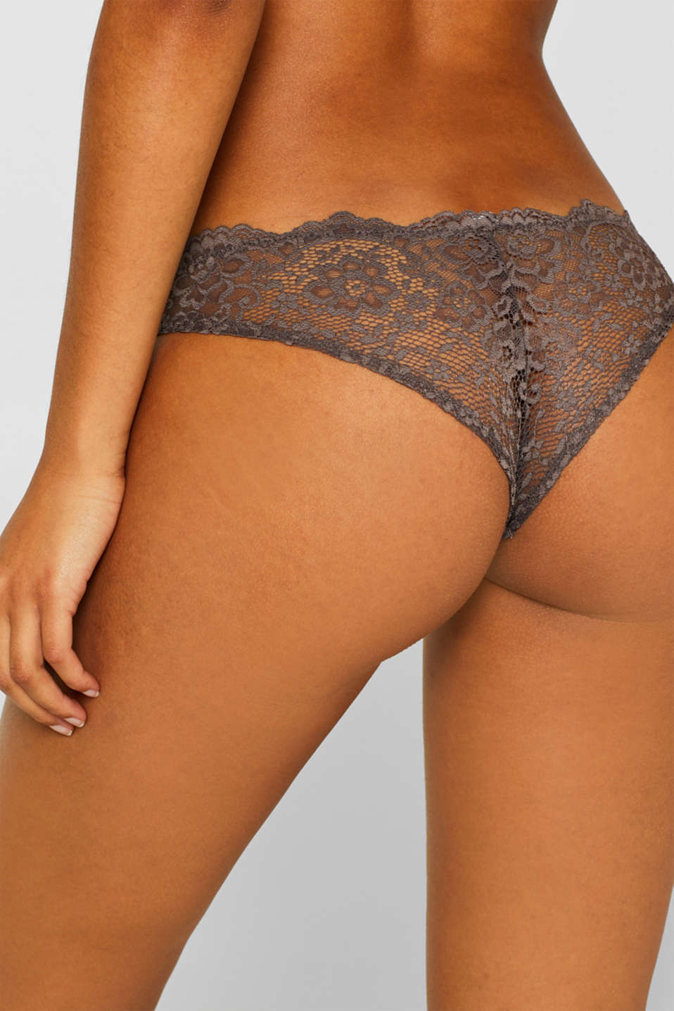 Hipster briefs in two kinds of lace, TAUPE, detail image number 2