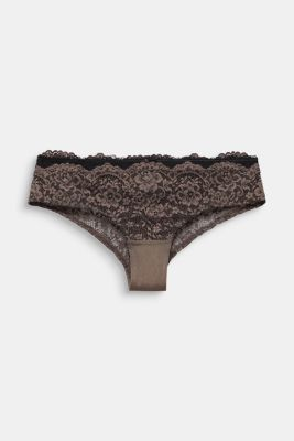 Hipster shorts in two kinds of lace, TAUPE, detail
