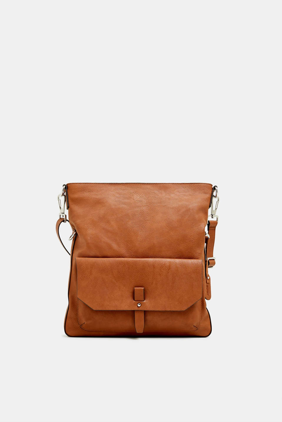 Adjustable faux leather shoulder bag, RUST BROWN, detail image number 0
