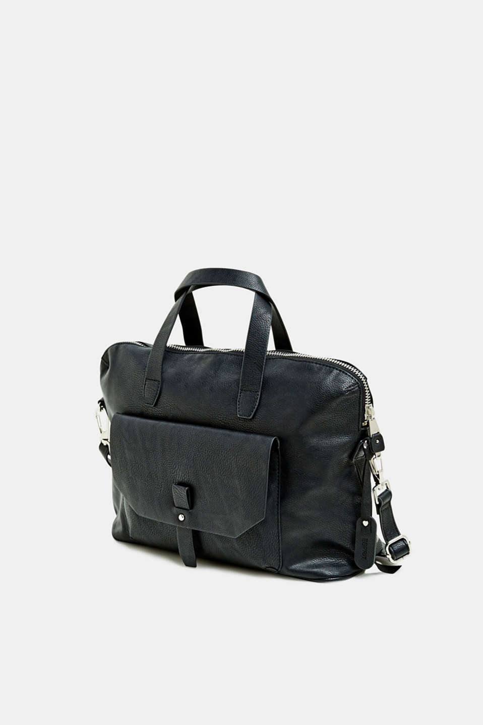 Working bag in faux leather, BLACK, detail image number 2