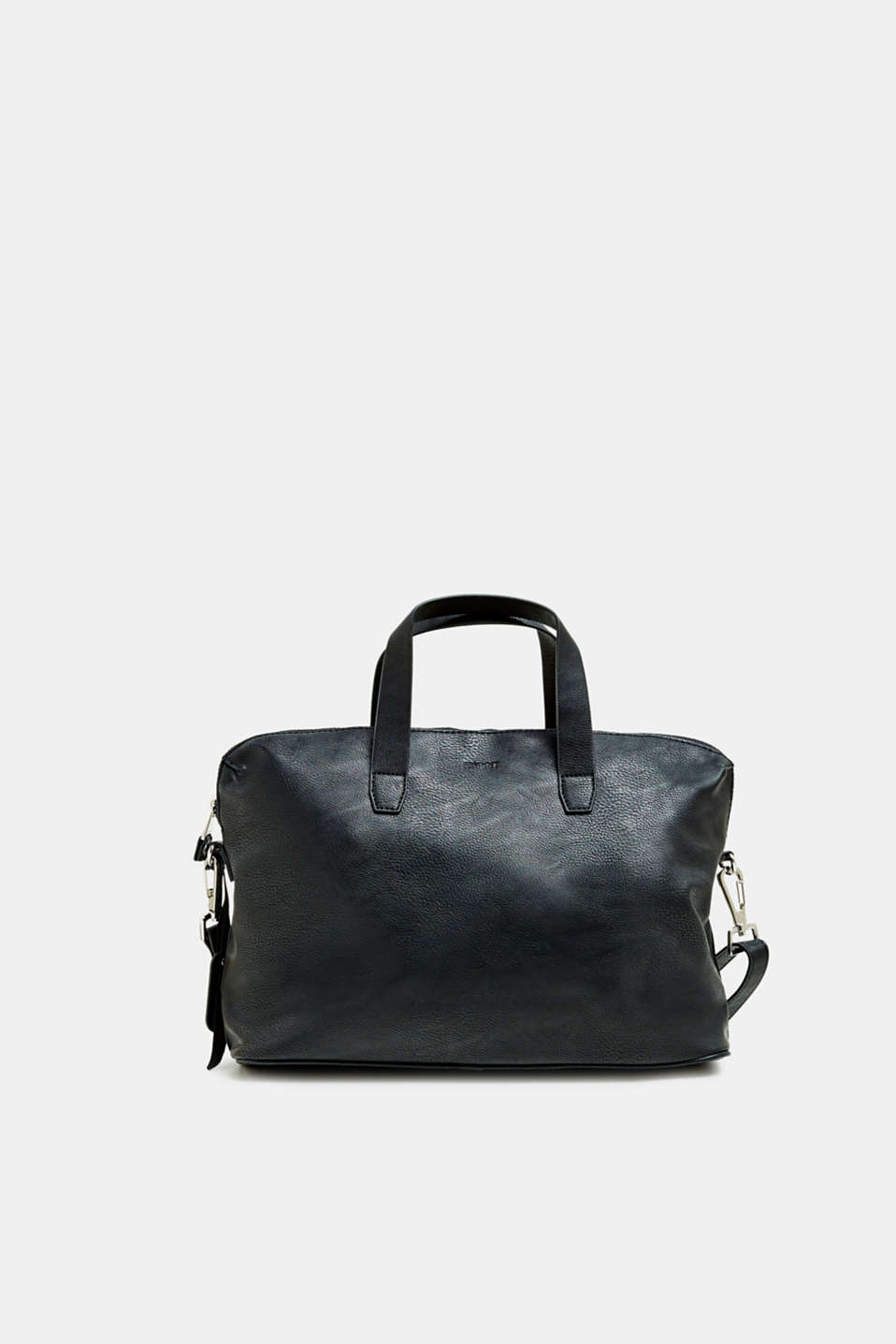 Working bag in faux leather, BLACK, detail image number 4