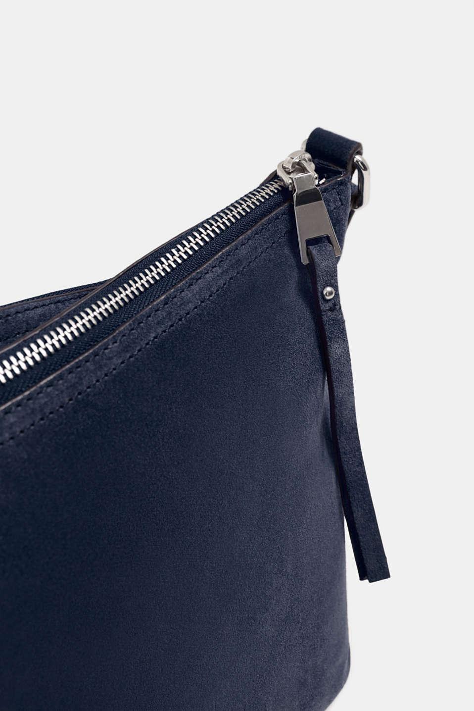 Suede shoulder bag, NAVY, detail image number 3