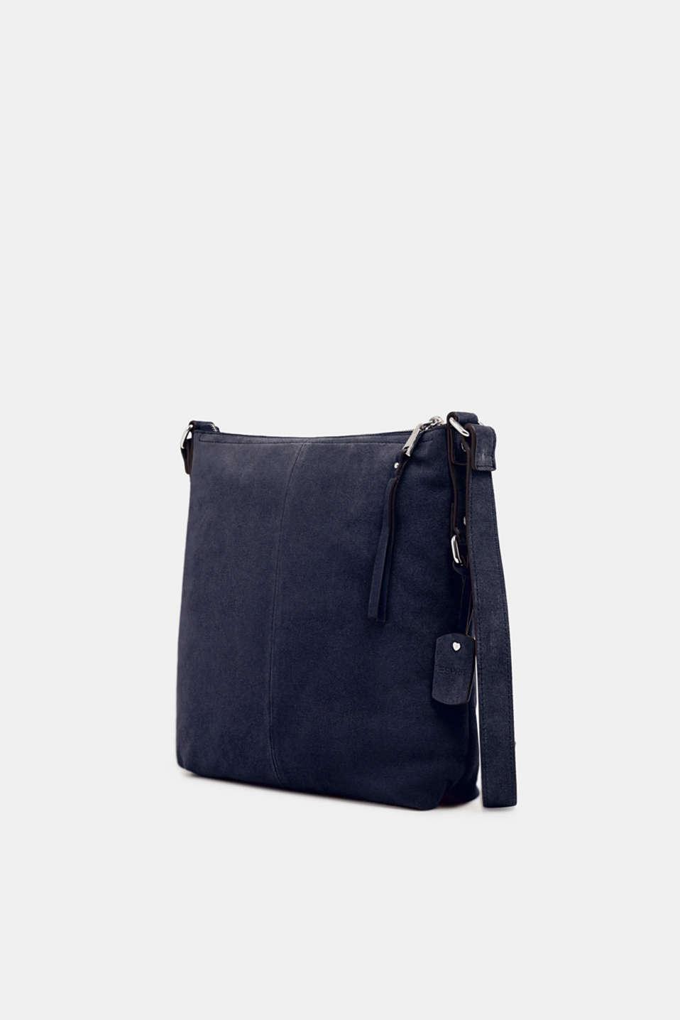 Leather shoulder bag, NAVY, detail image number 2