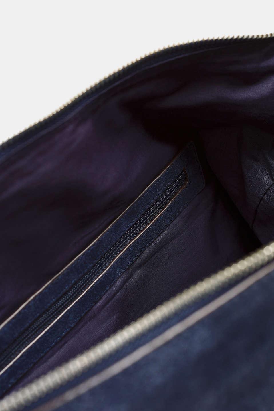 Leather shoulder bag, NAVY, detail image number 4