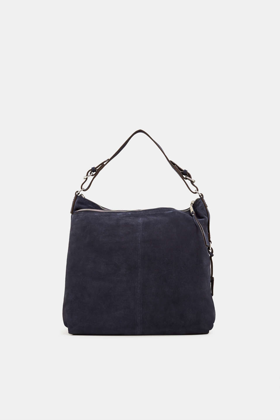 Leather hobo bag, NAVY, detail image number 0
