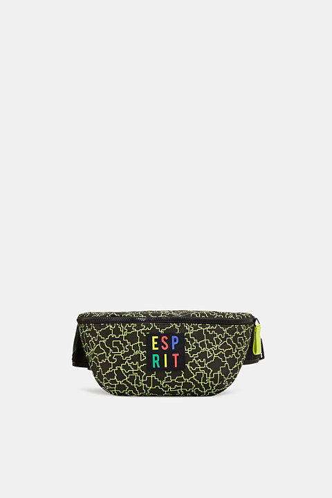 #throwback belt bag with a neon logo print