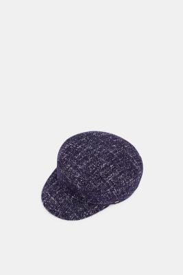Tweed sailor's cap, NAVY, detail