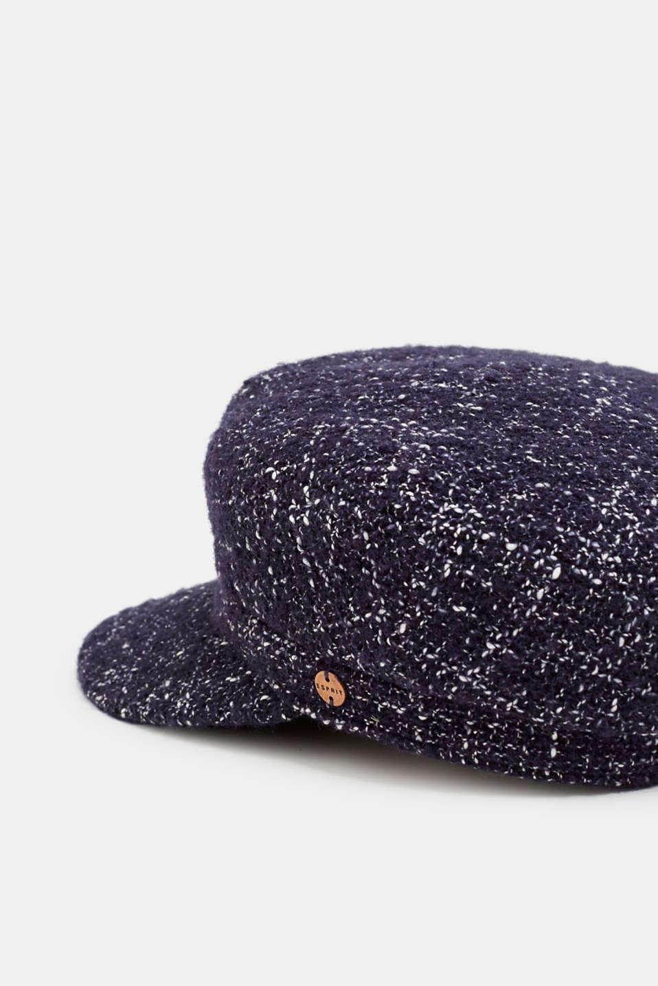 Tweed sailor's cap, NAVY, detail image number 1