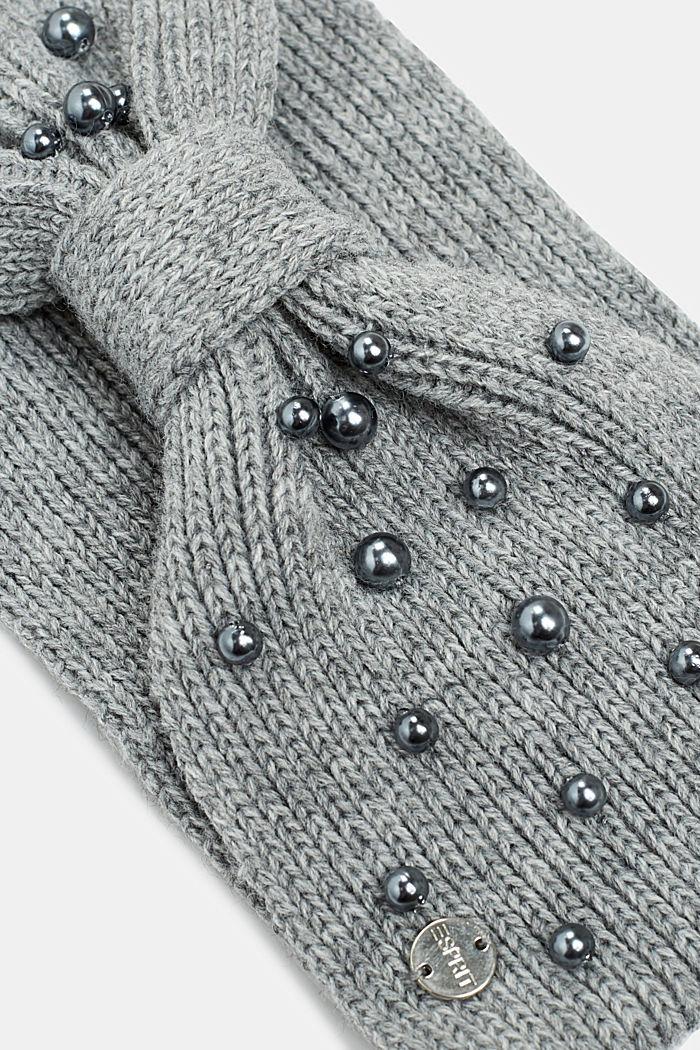 Stirnband mit Perlen-Besatz, GREY, detail image number 1
