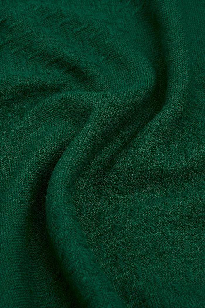 Cuello con textura en zigzag, TEAL GREEN, detail image number 1
