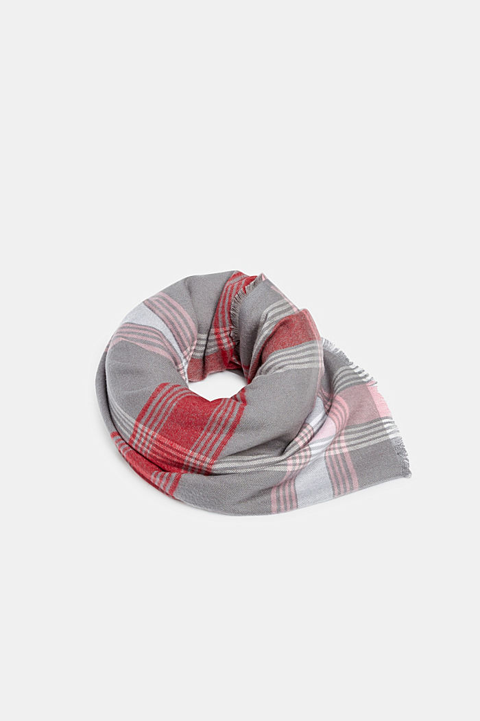 Scarf with LENZING™ ECOVERO™, GREY, detail image number 0