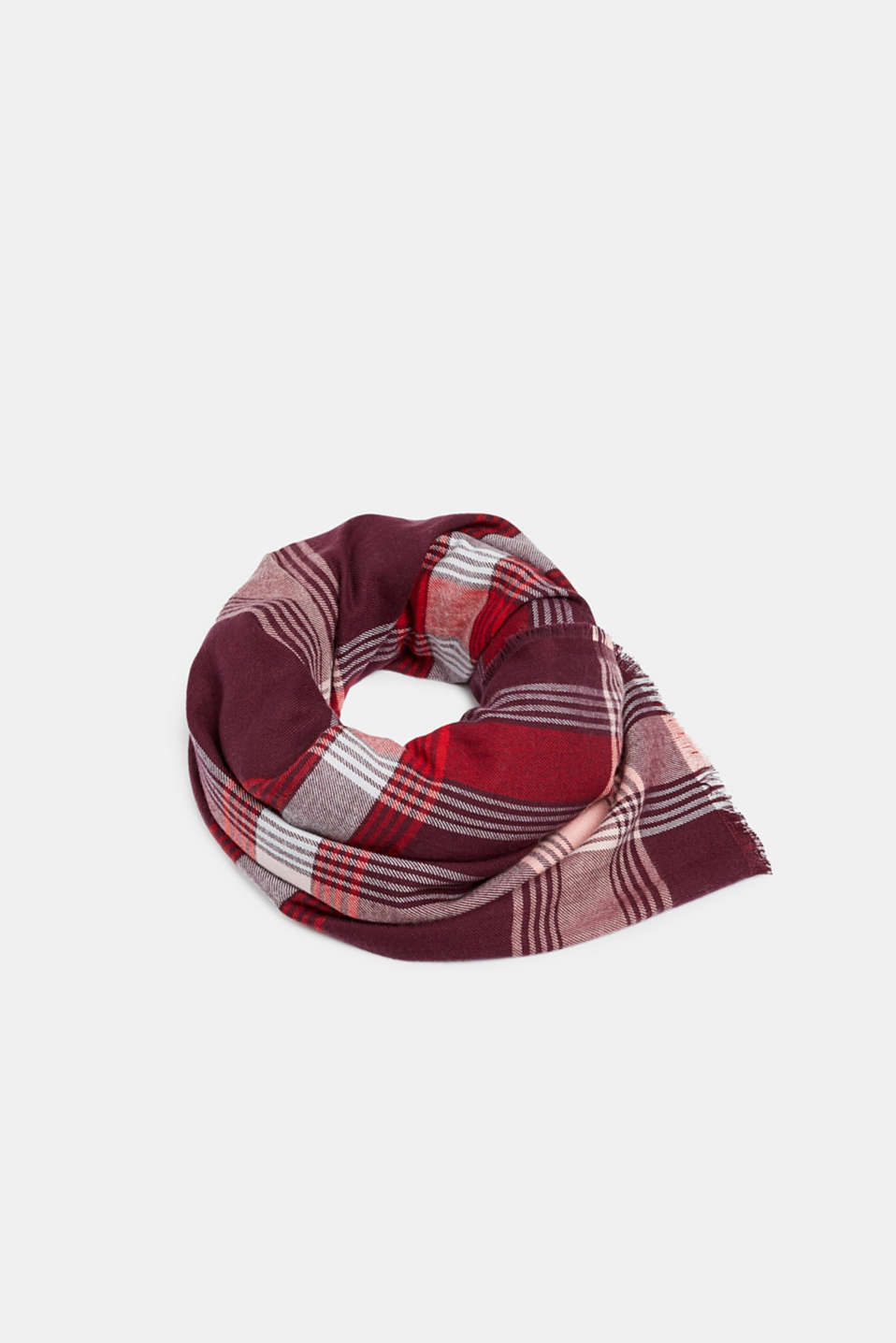 Scarf with LENZING™ ECOVERO™, BORDEAUX RED, detail image number 0