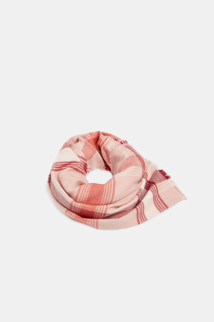 Scarf with LENZING™ ECOVERO™, BLUSH, detail image number 0
