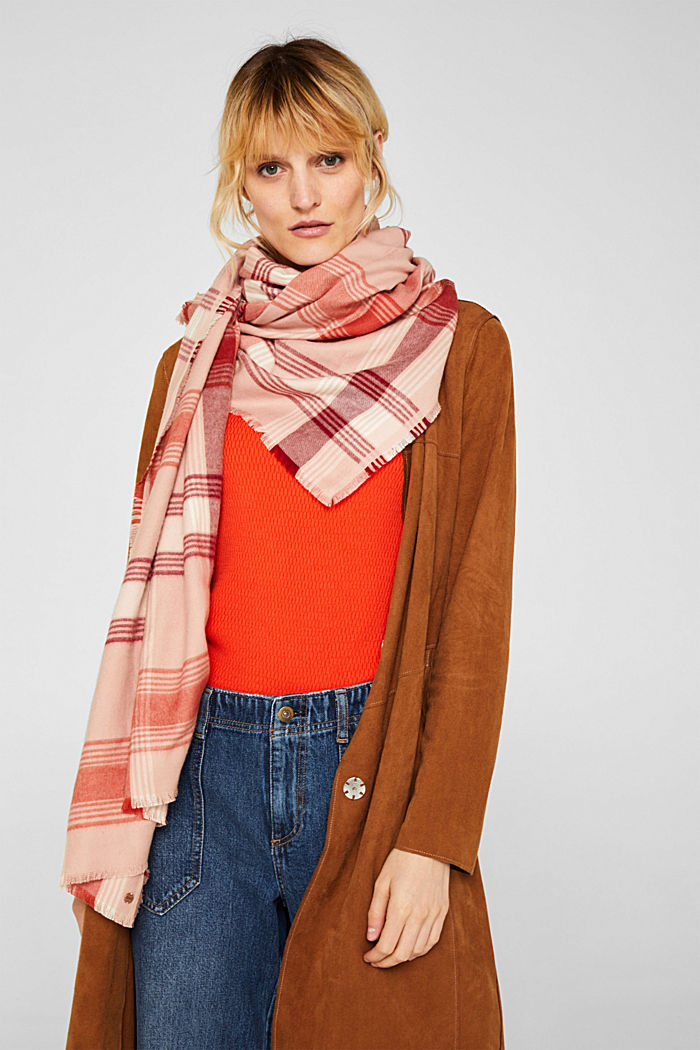 Scarf with LENZING™ ECOVERO™, BLUSH, detail image number 1