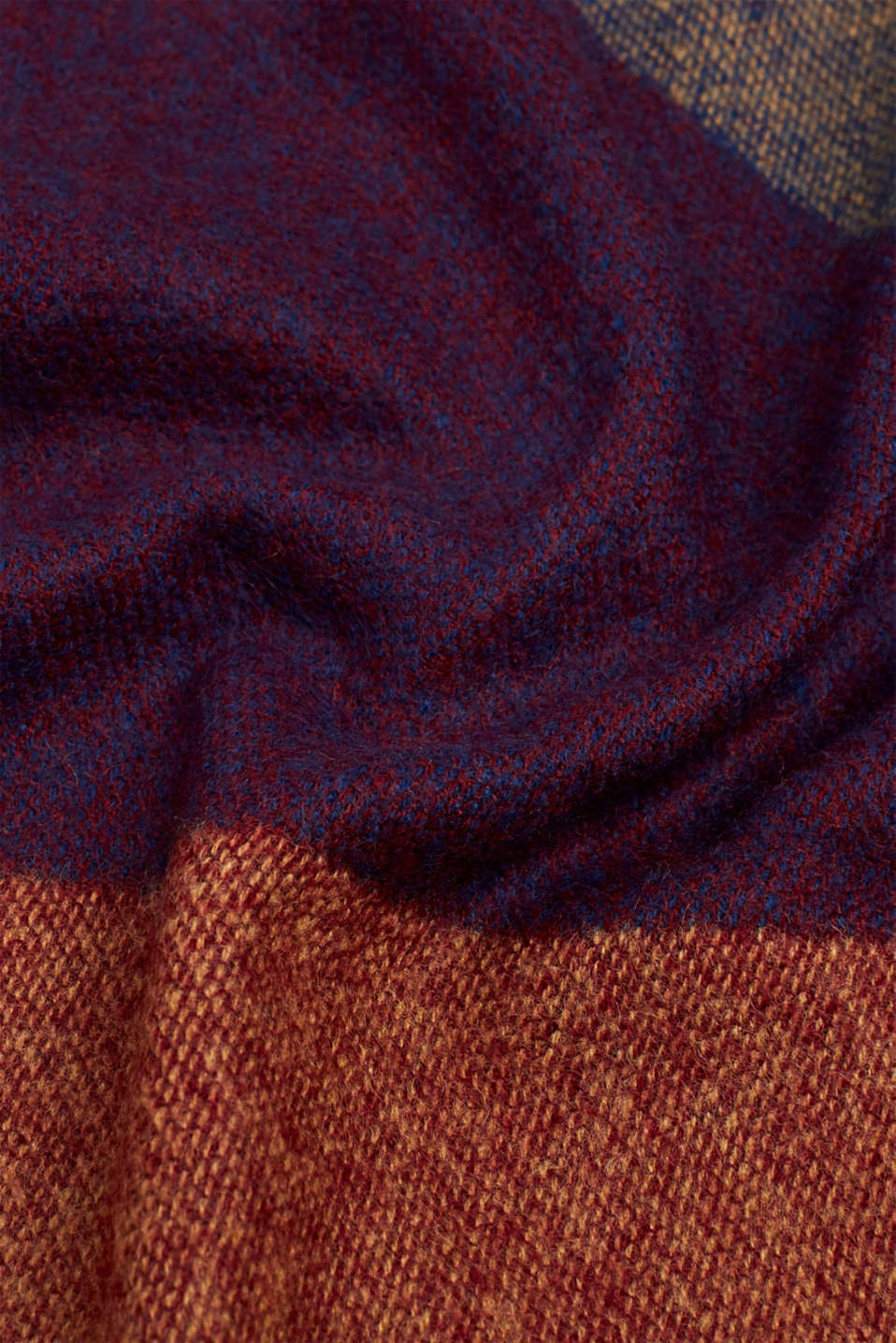 Oversized scarf with a graphic pattern, BORDEAUX RED, detail image number 2