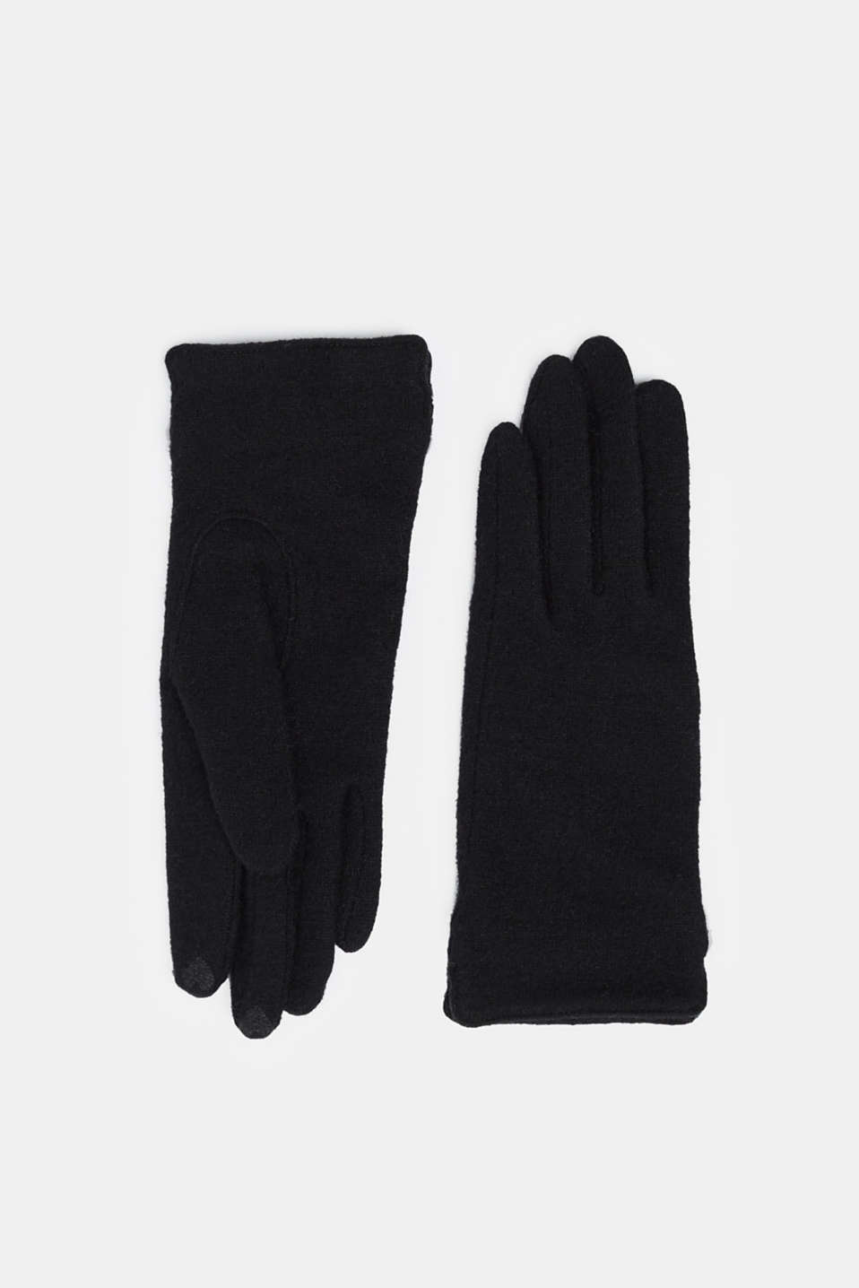 Esprit - Made of blended wool: Touchscreen gloves