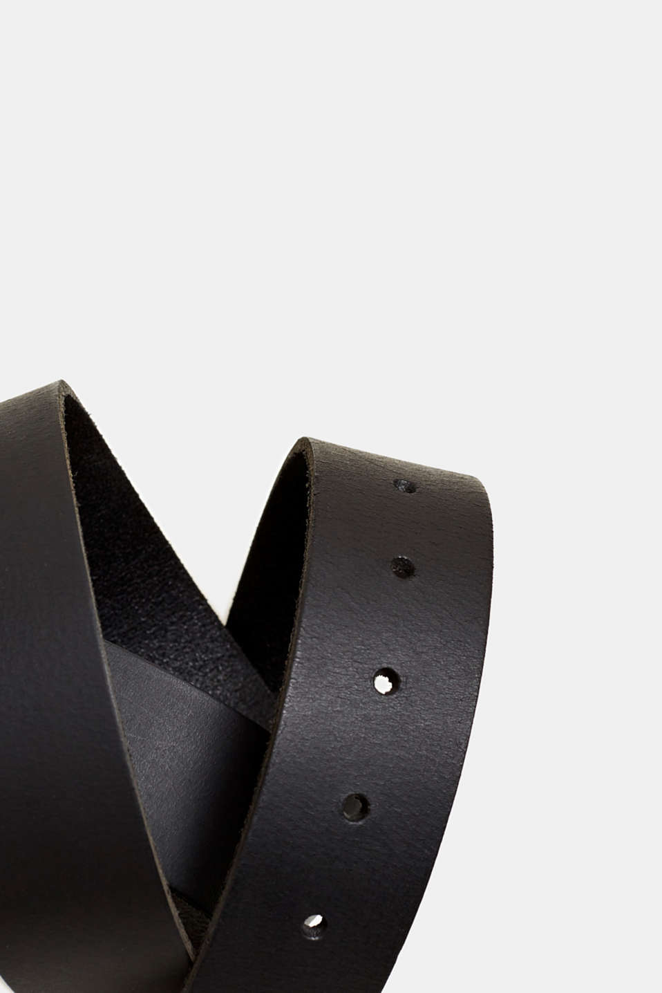 Leather belt with a buckle, BLACK, detail image number 1
