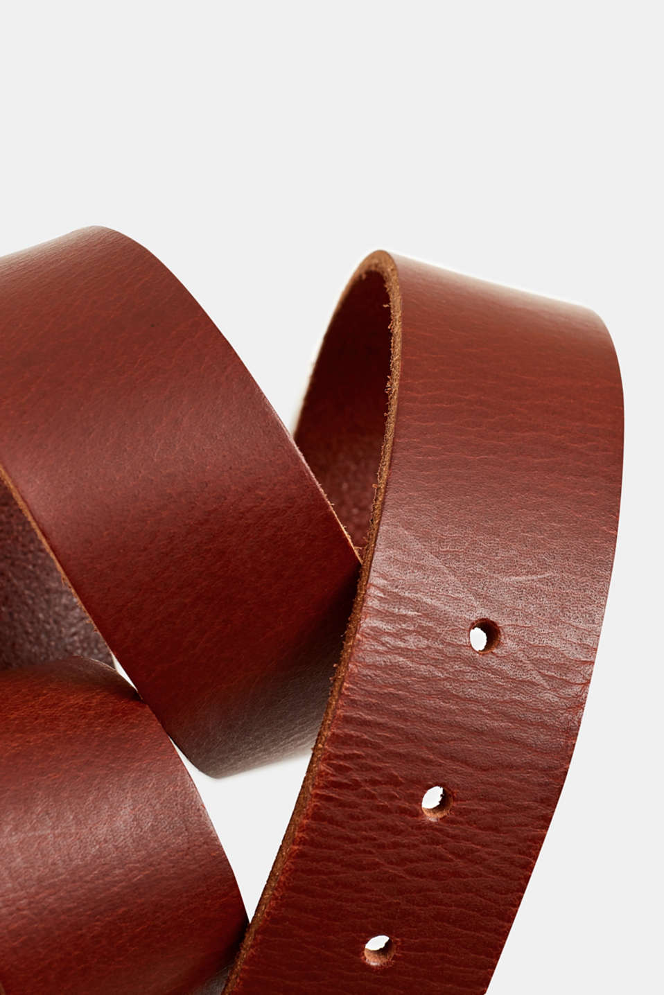 Leather belt with a buckle, RUST BROWN, detail image number 1