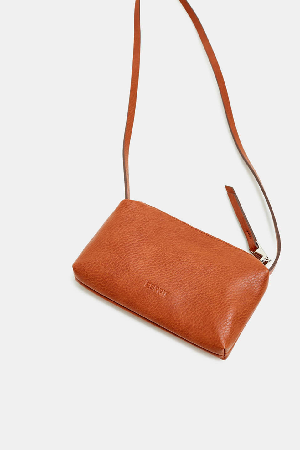 Faux leather mobile phone bag, RUST BROWN, detail image number 1