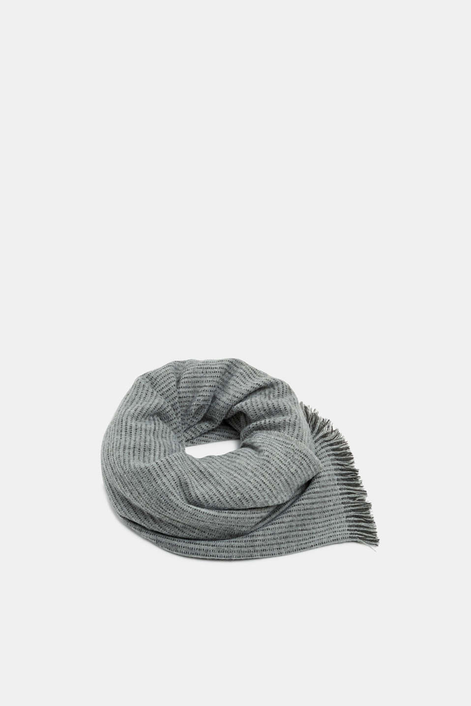 Scarf with textured stripes, MEDIUM GREY, detail image number 0