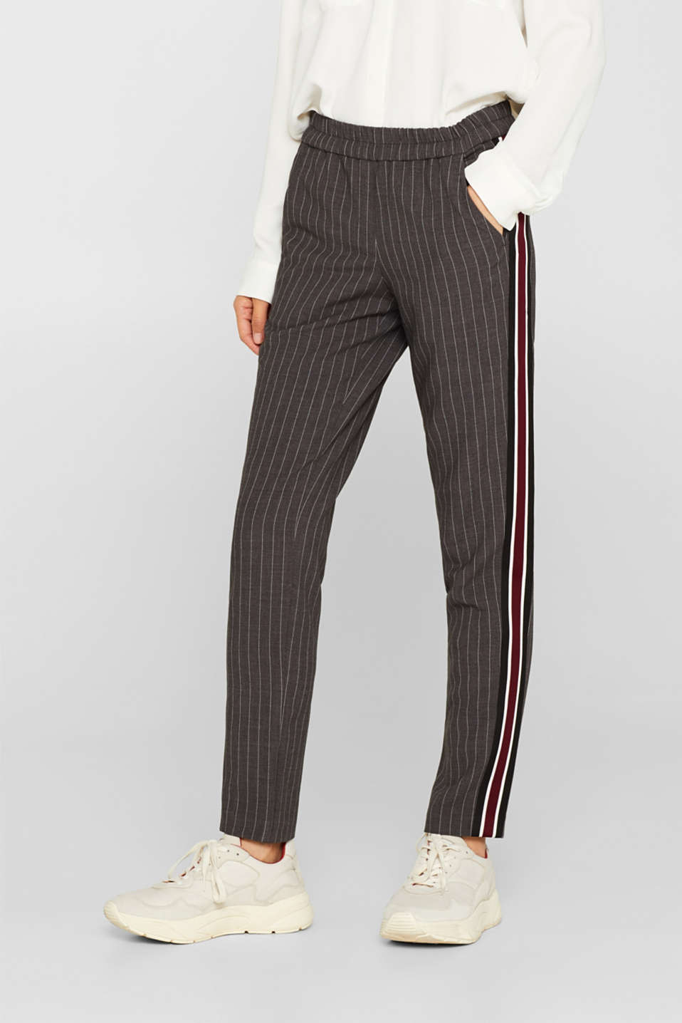 Pants woven, DARK GREY, detail image number 6
