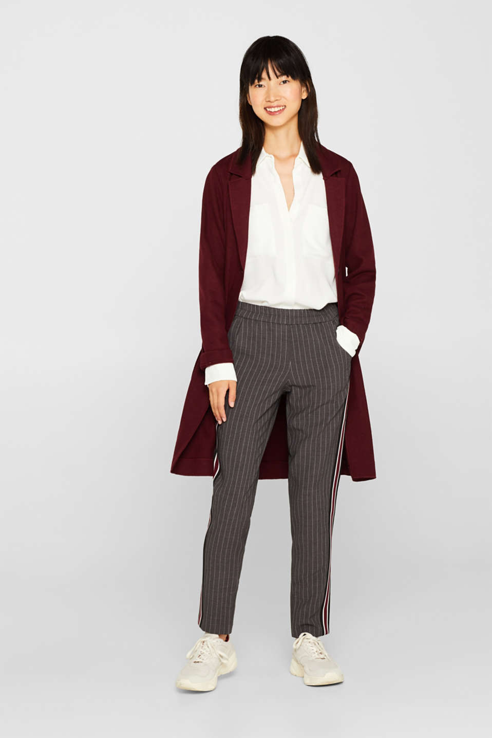Pants woven, DARK GREY, detail image number 1