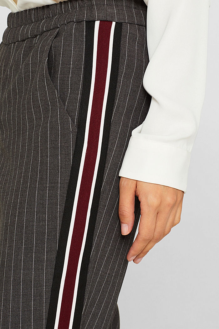 Stretch trousers with racing stripes, DARK GREY, detail image number 2