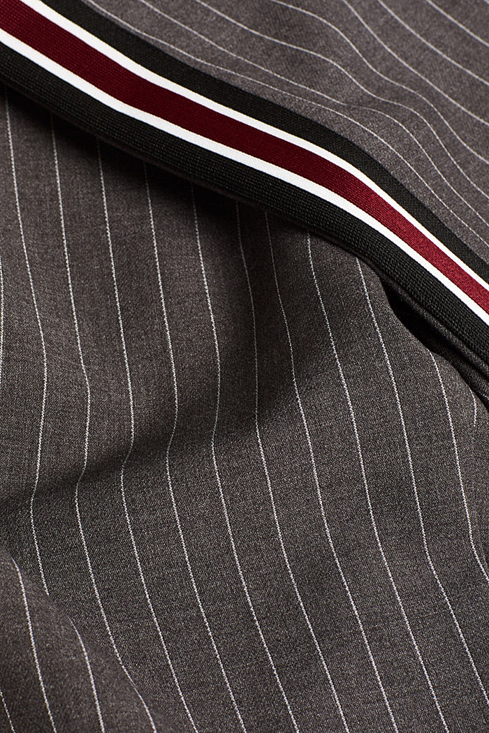Stretch trousers with racing stripes, DARK GREY, detail image number 4