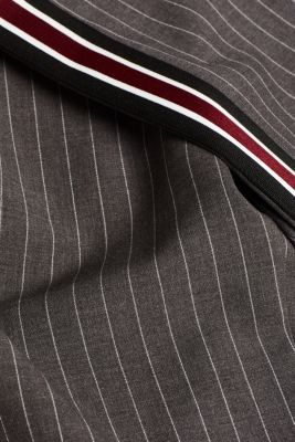 Stretch trousers with racing stripes, DARK GREY, detail