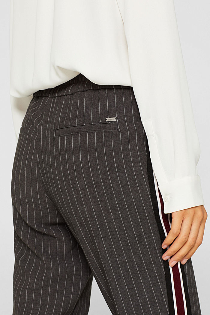 Stretch trousers with racing stripes, DARK GREY, detail image number 5