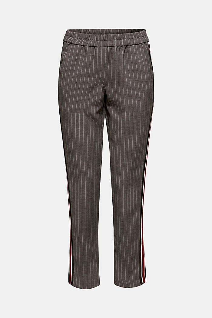 Stretch trousers with racing stripes, DARK GREY, detail image number 7