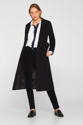 Stretch corduroy trousers, BLACK, detail