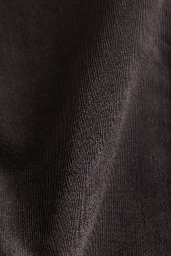 Stretch corduroy trousers, GUNMETAL, detail image number 4