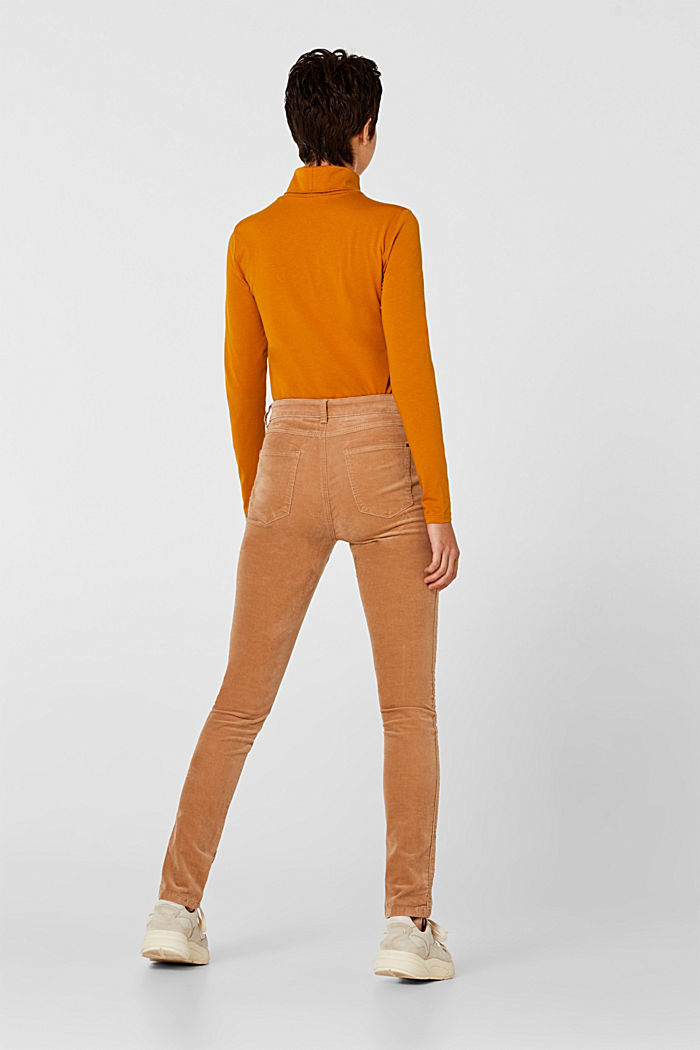 Stretch corduroy trousers, CAMEL, detail image number 3