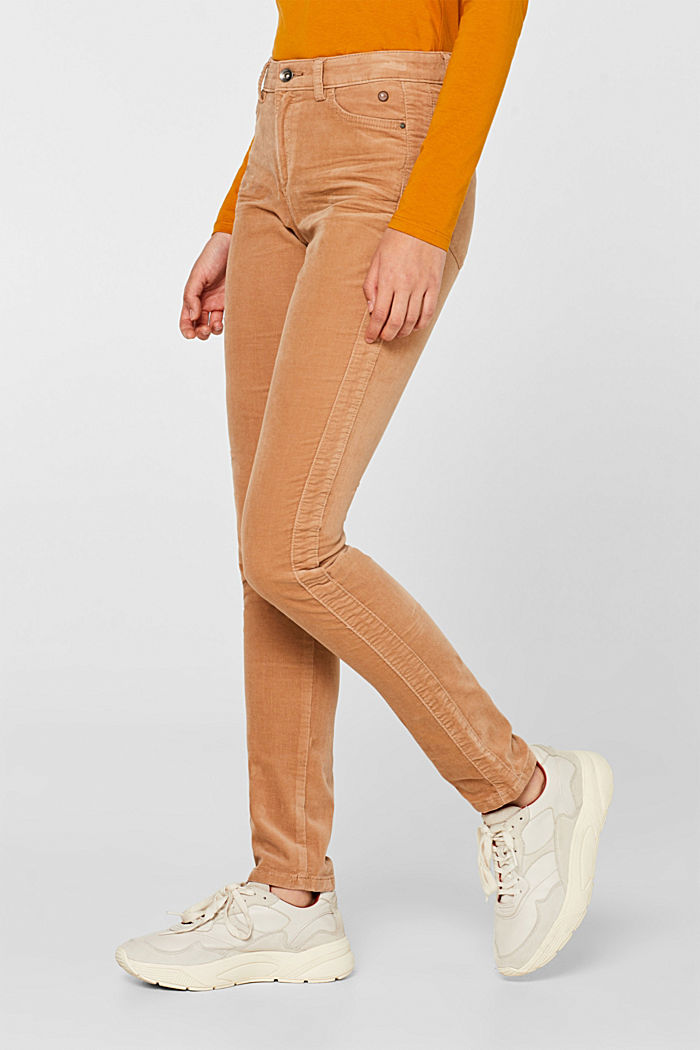 Stretch corduroy trousers, CAMEL, detail image number 6