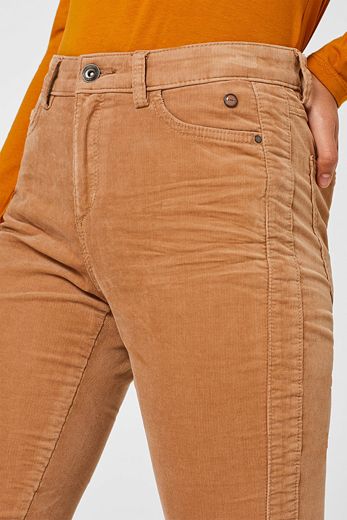 Stretch corduroy trousers, CAMEL, detail image number 2