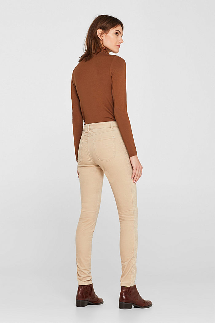 Stretch corduroy trousers, LIGHT BEIGE, detail image number 3